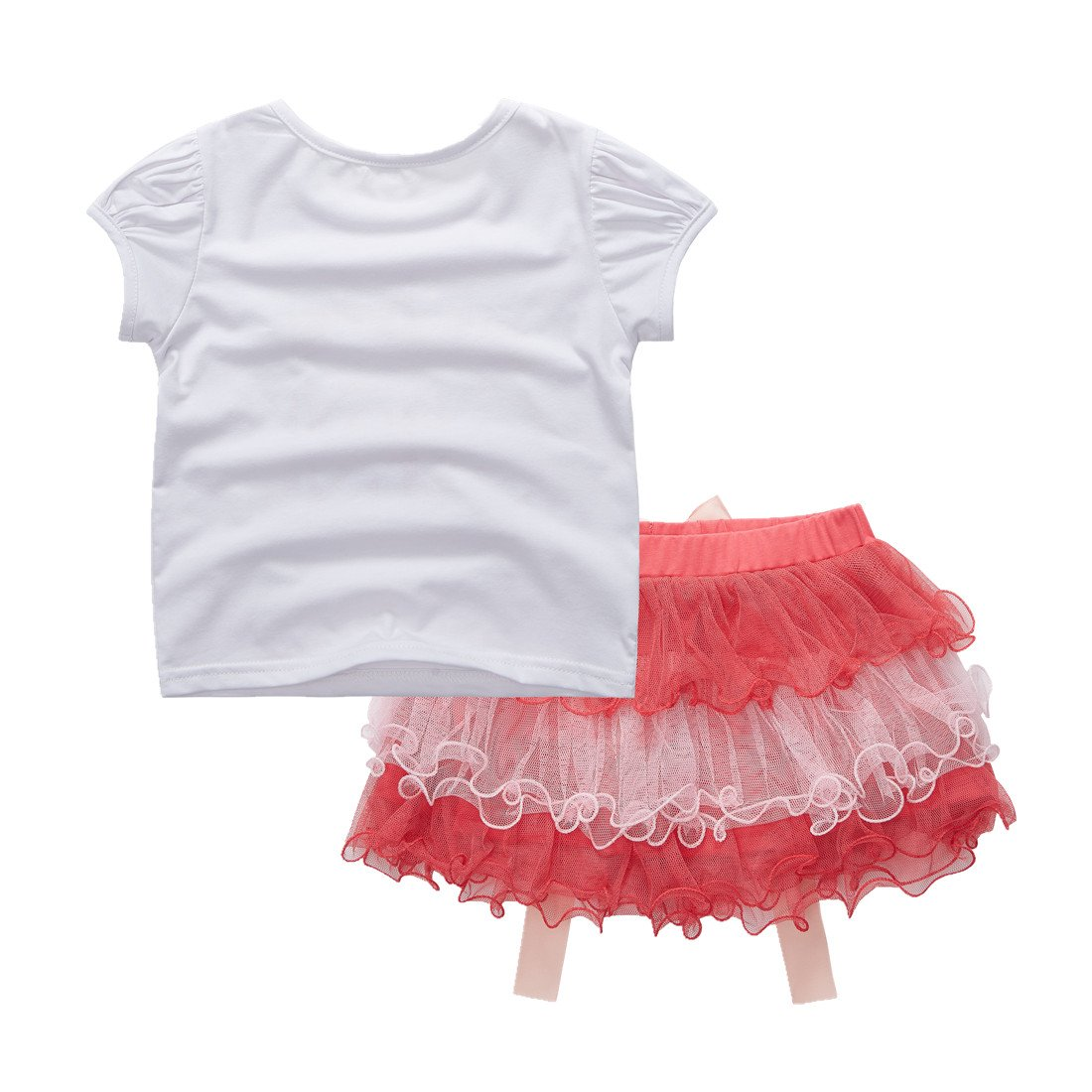 Sooxiwood Little Girls Skirt Sets Birthday Lace