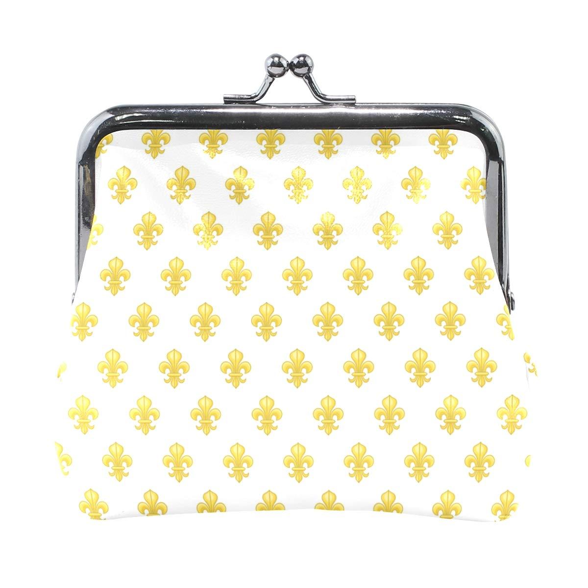 LALATOP Golden Lily Womens Coin Pouch Purse wallet Card Holder Clutch Handbag