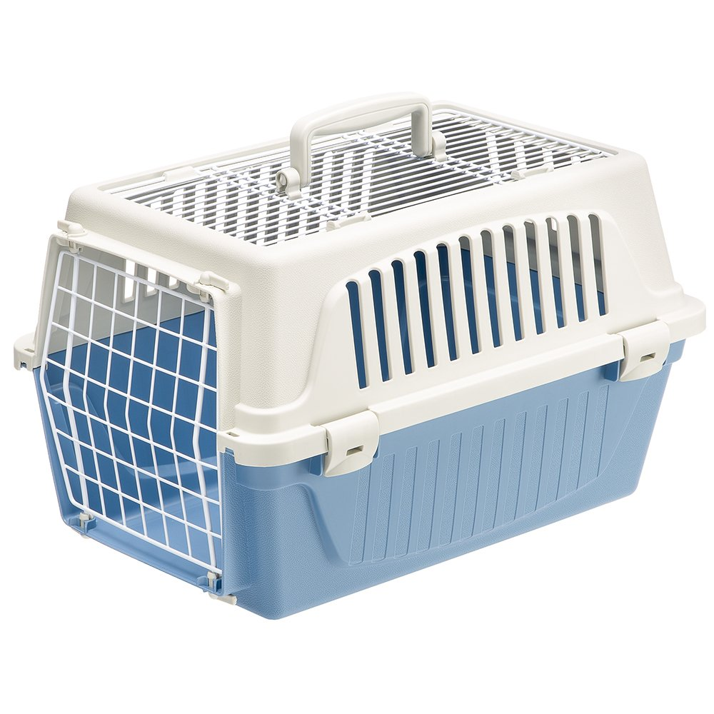 bluee Ferplast Atlas 10 Top Opening Cat and Dog Carrier, bluee