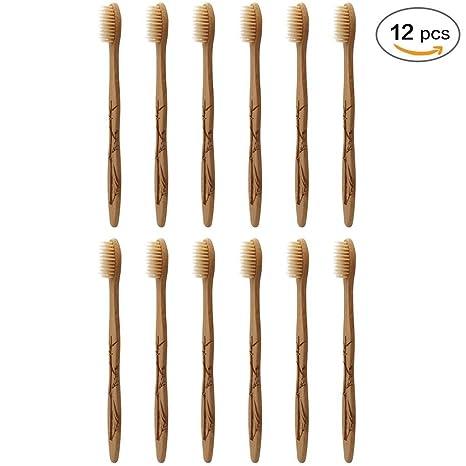 SoniFox - Cepillo de dientes de dureza media, cerdas de bambú, biodegradable