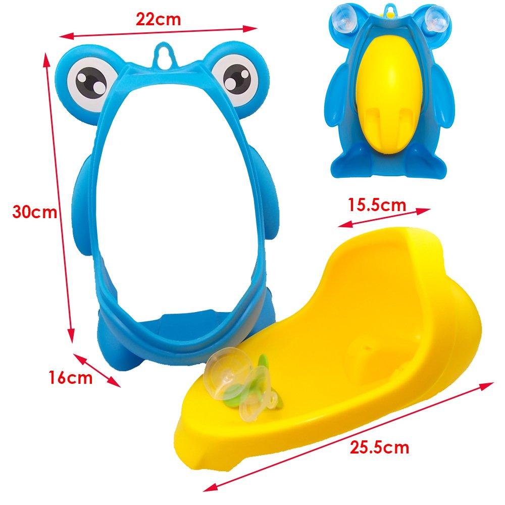 Blue Frog JJPRIME Grenouille Enfants Potty Toilette Formation Enfants But But Moulin /À Vent Mur Urinoir pour les gar/çons Pee Stand Trainer Salle de Bain