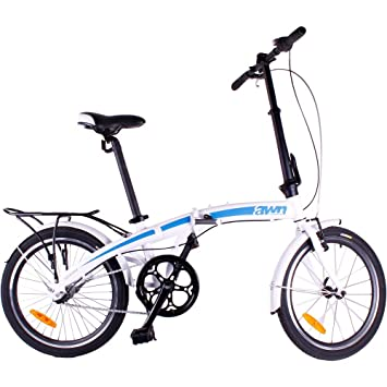 """20"""" Bicicleta plegable AWN-aluminio, de 3 velocidades 19kg"""