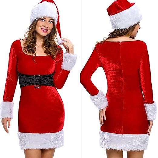 Baymate Damen Weihnachtskostüm Langarm Weihnachtsfeier Party Cosplay ...