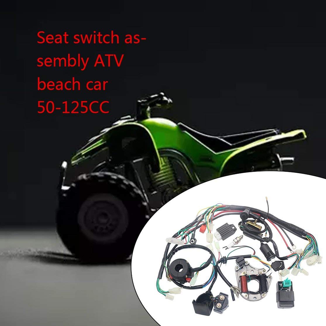 LouiseEvel215 Elektrik Statorspule CDI Kabelbaum f/ür 4-Takt ATV KLX 50ccm 70ccm 110ccm 125ccm Quad Buggy Go Kart Pit Dirt Bikes