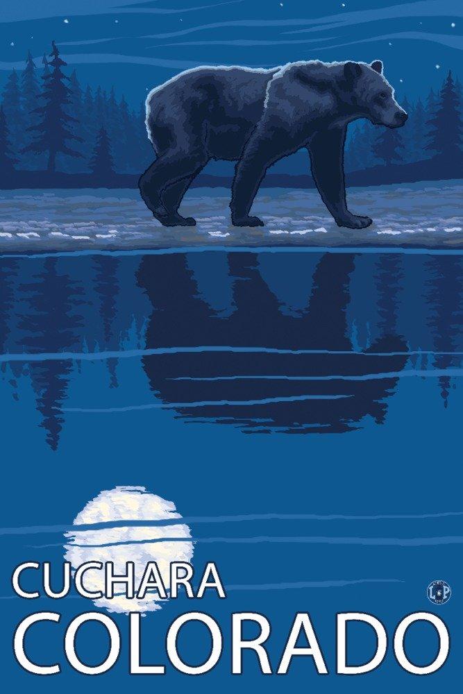 Cuchara、コロラド – Bear in Moonlight 36 x 54 Giclee Print LANT-20101-36x54 B017E9S4R0  36 x 54 Giclee Print