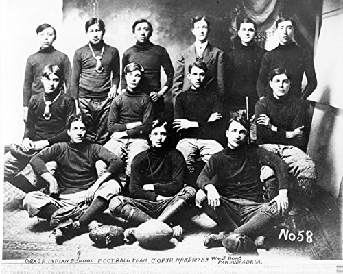 Photo Print 12x15: Osage Indian School Football Team, - Osage Pictures