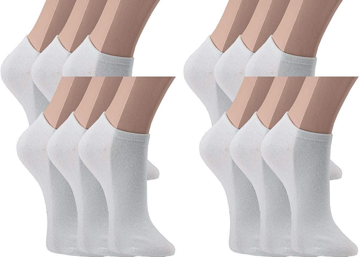 Vitasox calzini corti da donna in cotone senza cuciture pacco da 6 o da 12