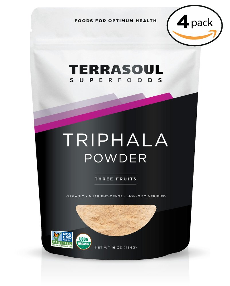 Terrasoul Superfoods Organic Triphala Powder, 4 Pounds