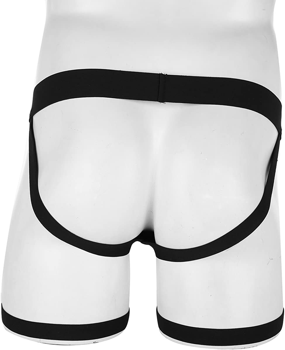 US Men Jockstrap G-string Open Butt Pants Thongs Boxer Briefs Lingerie Underwear