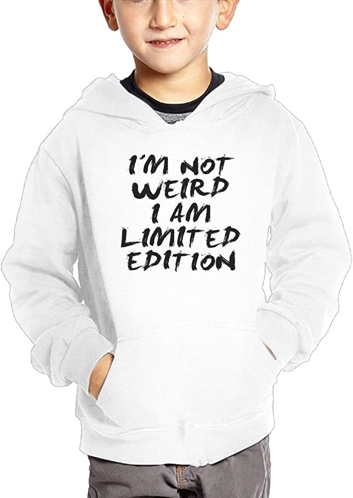 JasonMade Awesome Quotes I Am Not Weird I Am Limited Edition Kids Fashion Popular Hooded Hoodies With Pocket