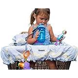Lumiere-Carrello per la spesa, per bambini, 360 germe protezione, Divertimento nel raggiungere, cintura di sicurezza, lavabili in lavatrice, compatto e pieghevole, con custodia