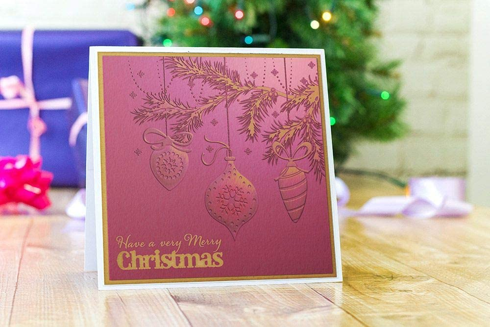 Crafters Companion GEM-EF6-3D-OB Gemini 6 x 6 3D Embossing Folder-Opulent Baubles us:one Size Clear