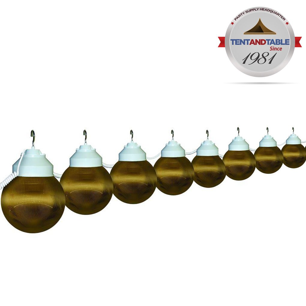 8 Globe Bronze Color String Lights Designed for Lighting Outdoor Parties and Events by TentandTable