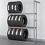 Tennsco ZST-6084S Automotive Tire Rack 60'' W x 84'' H