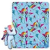 Hasbro My Little Pony, 'Rainbow Dash' Hugger and Fleece Throw Blanket Set, 40' x 50', Multi Color