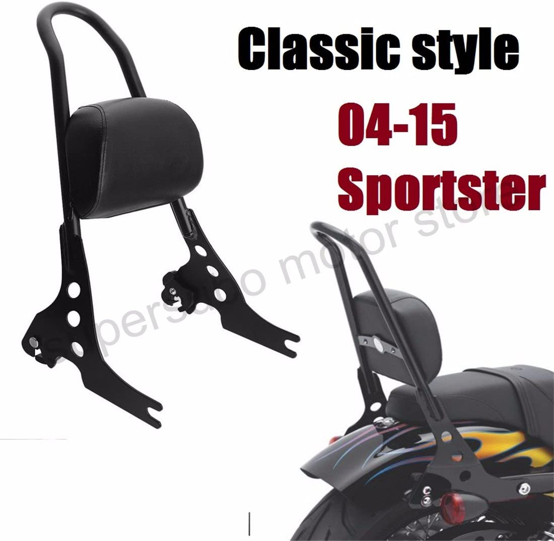 Passenger Detachables Sissy Bar Upright Backrest for harley Sportster 1200 Custom XL1200C Sportster 883 Low XL883L Forty Eight XL1200X 10-19