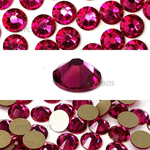 - FUCHSIA (502) hot pink Swarovski NEW 2088 XIRIUS Rose 20ss 5mm flatback No-Hotfix rhinestones ss20 144 pcs (1 gross) *FREE Shipping from Mychobos (Crystal-Wholesale)*
