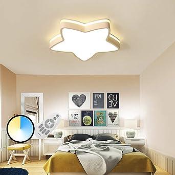 Hil White Cardboard Ceiling Children S Room Lights Led Star Lights Bedroom Lights Modern Boys And Girls Minimalist Acrylic Lamps Amazon De Lighting