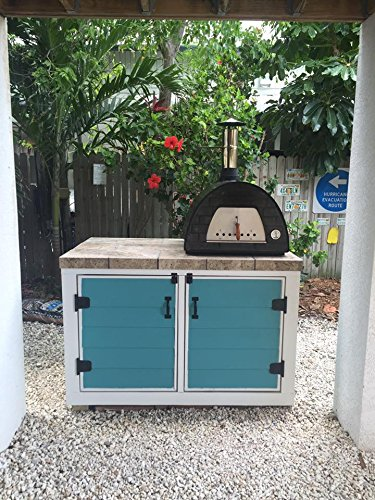 """Mobile / Portable Wood Fired Pizza Oven """"Maximus"""" (black)"""