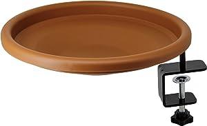 yosager Bird Bath Deck Bowl Spa Mount Bird Bath Unheated with Lightweight Detachable, Adjustable Heavy Duty Sturdy Steel, Great for Attracting Birds