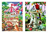 ice cream cart for adults - Sunsout 100 Pieces Ice Cream Cart Jigsaw Puzzle and Sunsout 100 Pieces Bird Bath Jigsaw Puzzle bundled by Maven Gifts
