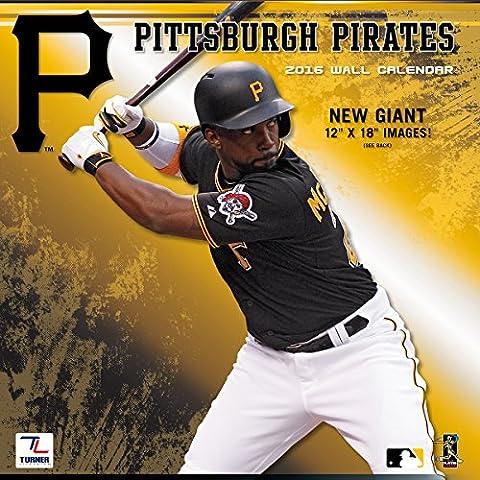 Turner Pittsburgh Pirates 2016 Team Wall Calendar, September 2015 - December 2016, 12 x 12