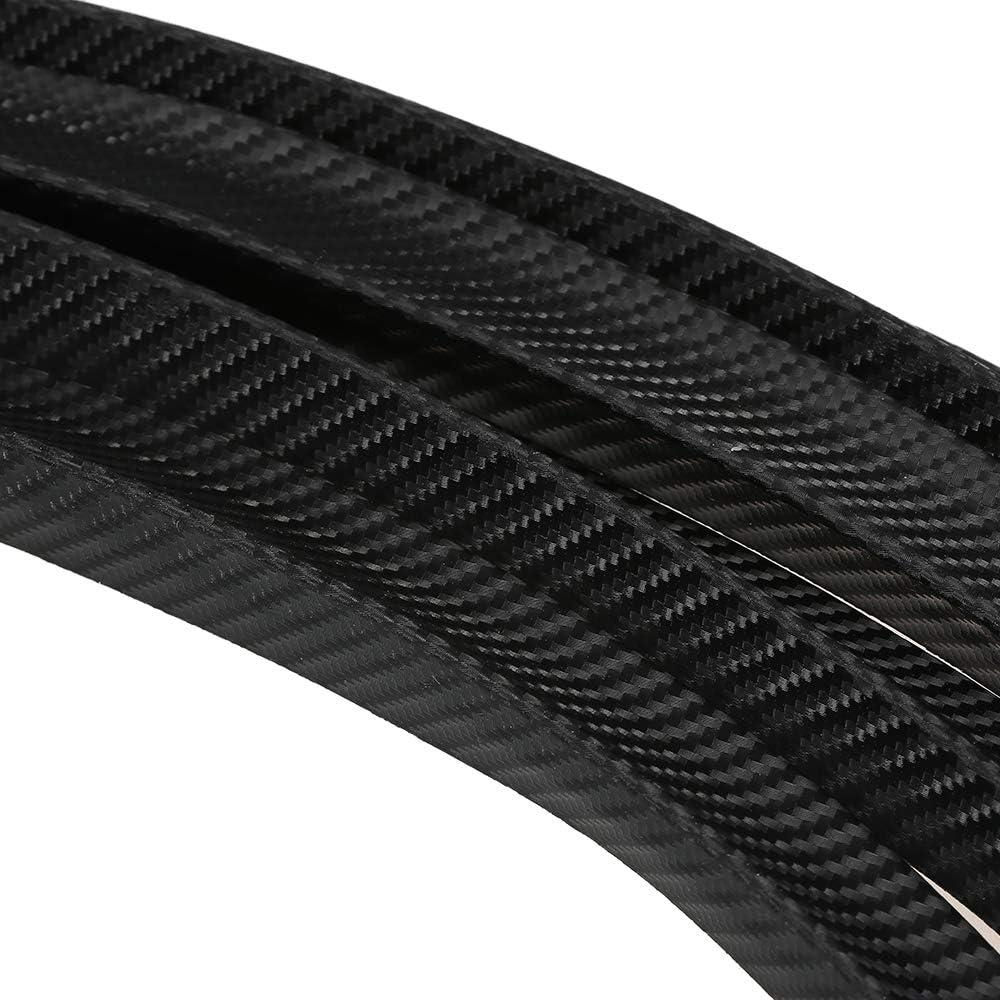 Voupuoda 4PCS Carbon Fiber Car Wheel Eyebrow Arch Trim Lips Strip Fender Flare Protector