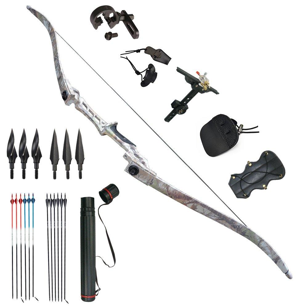 Bogenschie/ßen Recurve Bow 30-60lbs Jagd Takedown Outdoor Bogen