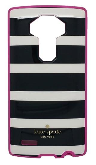buy online 5f2c3 f4614 Kate Spade New York Flexible Hardshell Phone Case - LG G4 - Black White  Stripes, Pink