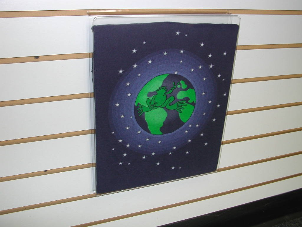11-1/2''H X 14-1/2''W ACRYLIC TSHIRT DISPLAY WITH WHITE INSERT FOR SLATWALL-CLEAR-Lot of 10 by Slatwall  (Image #1)