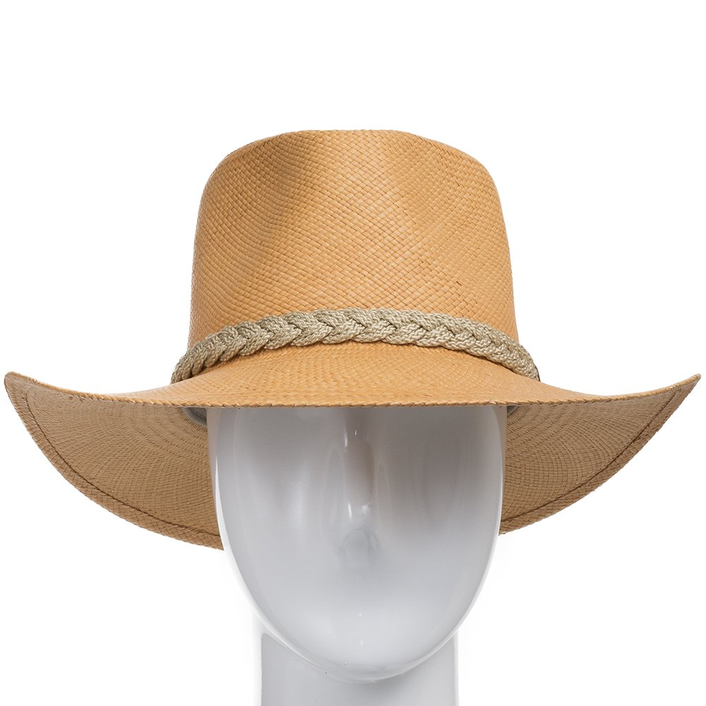 Authentic Aficionado Straw Panama Hat Putty 7 5/8 by Ultrafino (Image #2)