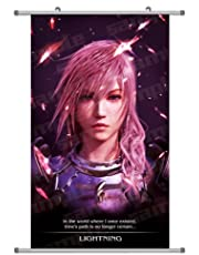 A Wide Variety of FF13 Final Fantasy Game Characters Wall Scroll Hanging Decor (Lightning 4)