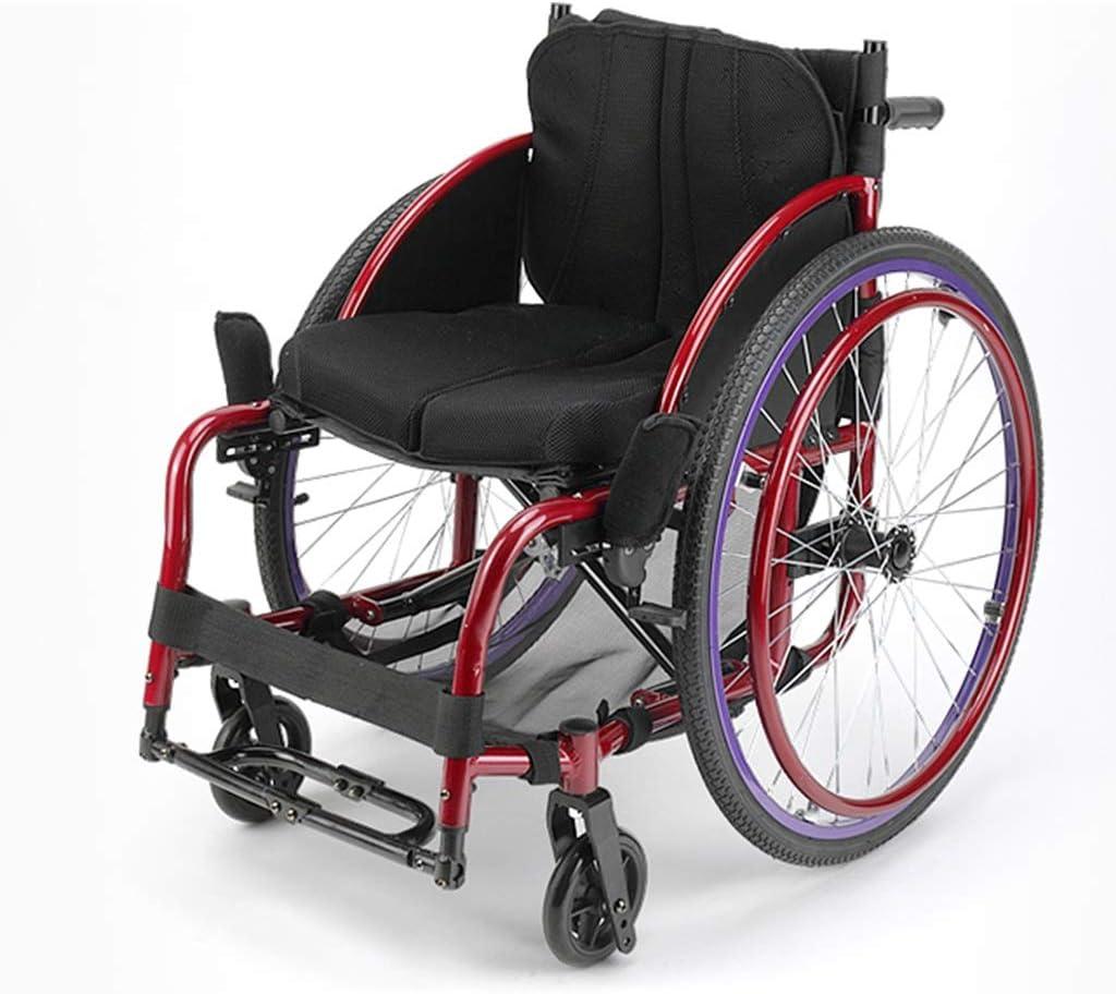Teng Peng Silla de Ruedas Ultra-Ligera aleación de Aluminio Deportes Moda y Ocio Ejercicio Plegable minusválidos Mayor Que Conduce médica, Seat Ancho 40 Cm sillas de Ruedas Plegables Ligeras