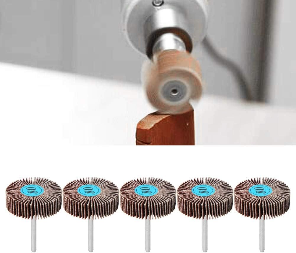 DEALPEAK 10Pcs//Set Sandpaper Metal Sanding Flap Wheel Grinding Polishing Flap Disc for Electric Grinder Rotary Tool
