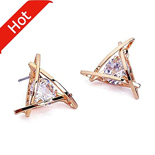 studs white earrings cluster stud a ladies studded flower diamond gold in image