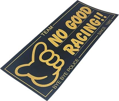 Langersun 2PCS Car Styling Vinyl Sticker Japan JDM No Good Racing Since 1985 Bumpers A 18x8cm 3M
