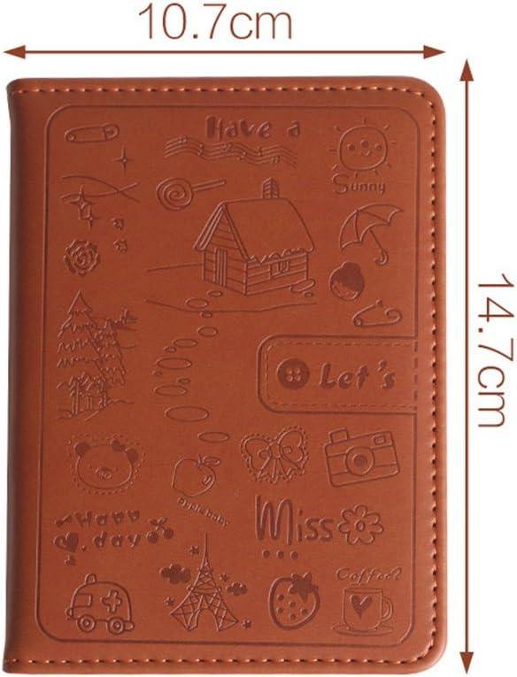 Busirde Cuoio bella copertura del taccuino A6 Time Planner Organizzatore Diario giornaliero personale Memo Agenda Diario di viaggio blu