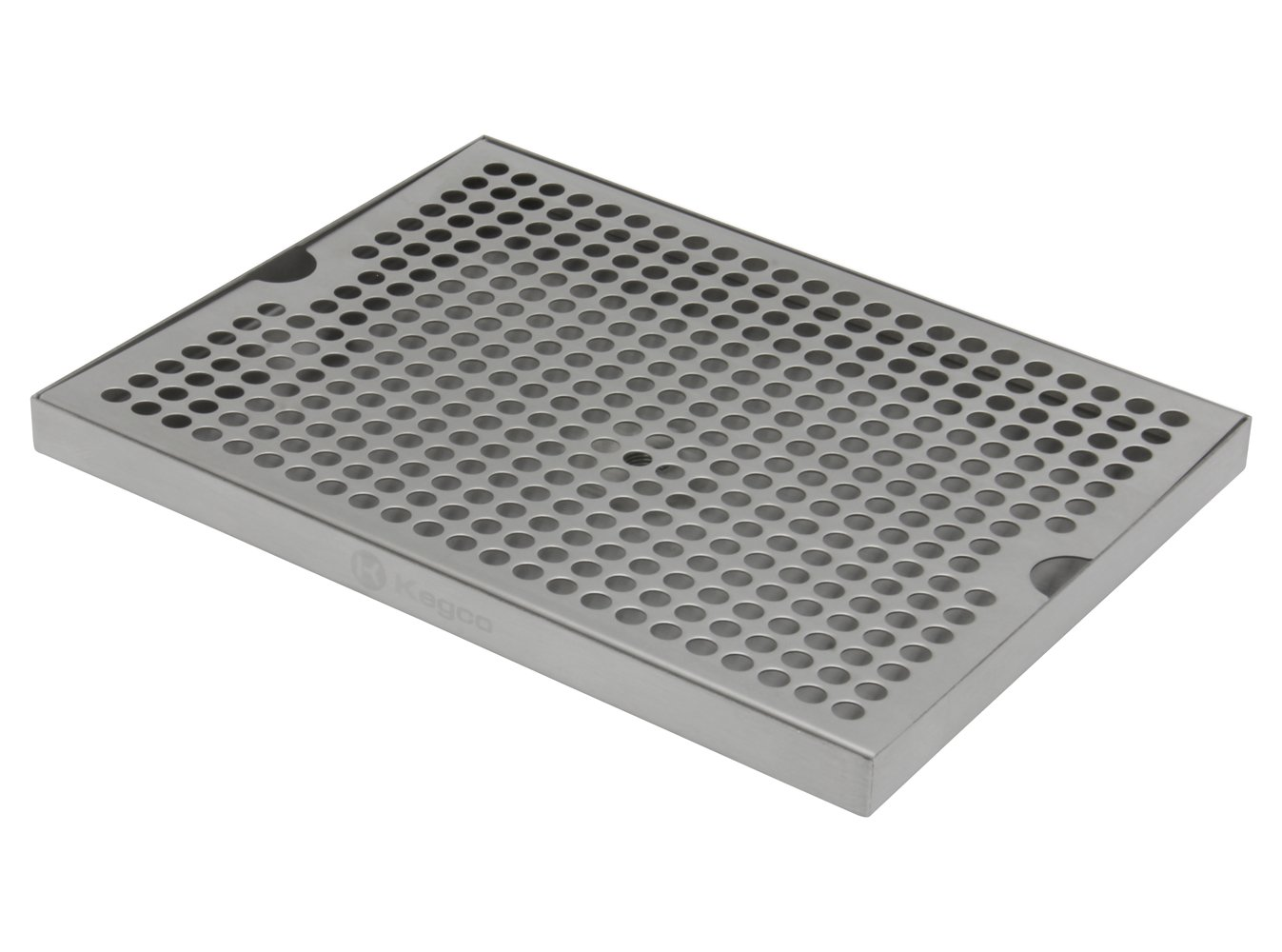 Kegco SESM-129D Stainless Steel 12'' x 9'' Surface Mount Drip Tray with Drain