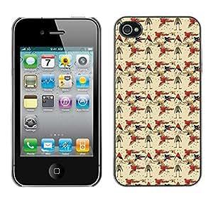 PatternViking PC Polycarbonate Aluminium Back Case Cover Apple iPhone 4 / 4S ( cute bird )