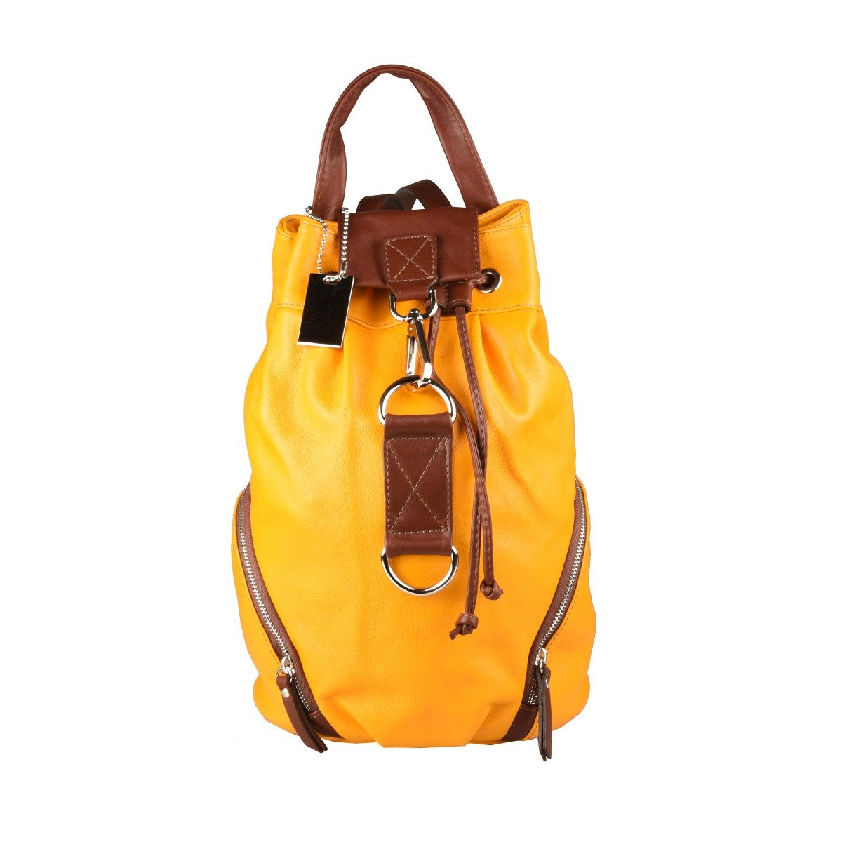 Dream Leather Bags Made in Italy Genuine Leather レディース 565-8 US サイズ: 1 M US カラー: イエロー   B07CV8915K