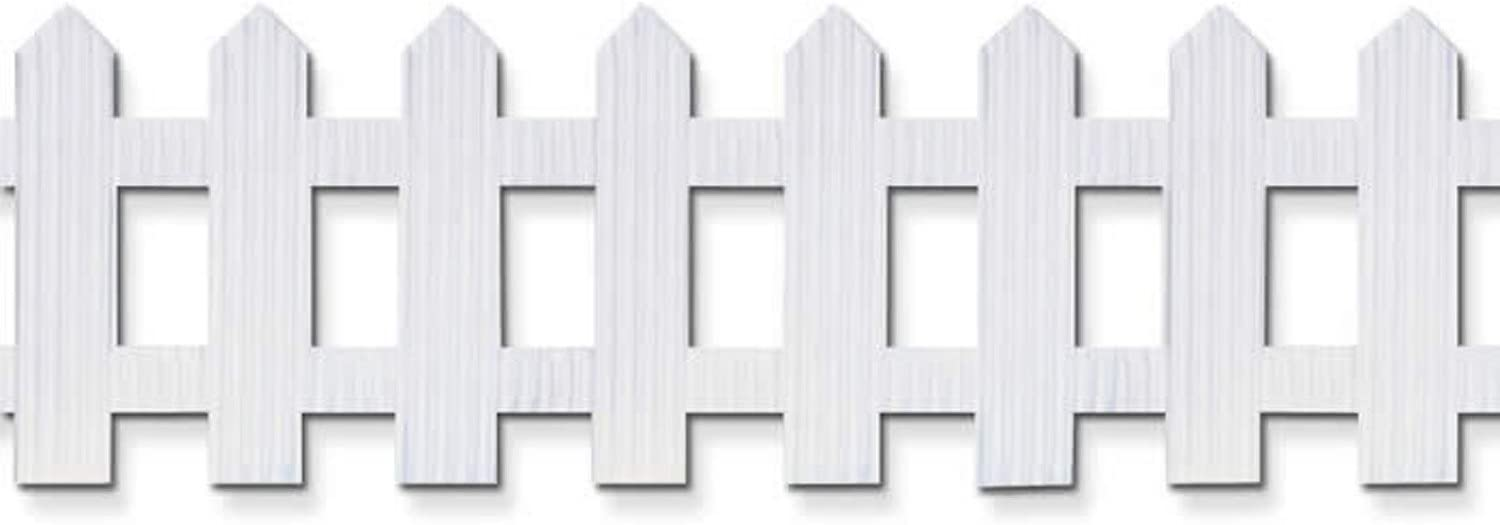 "Pacon Bordette Picket Fence, White, 6"" x 16', 1 Roll"