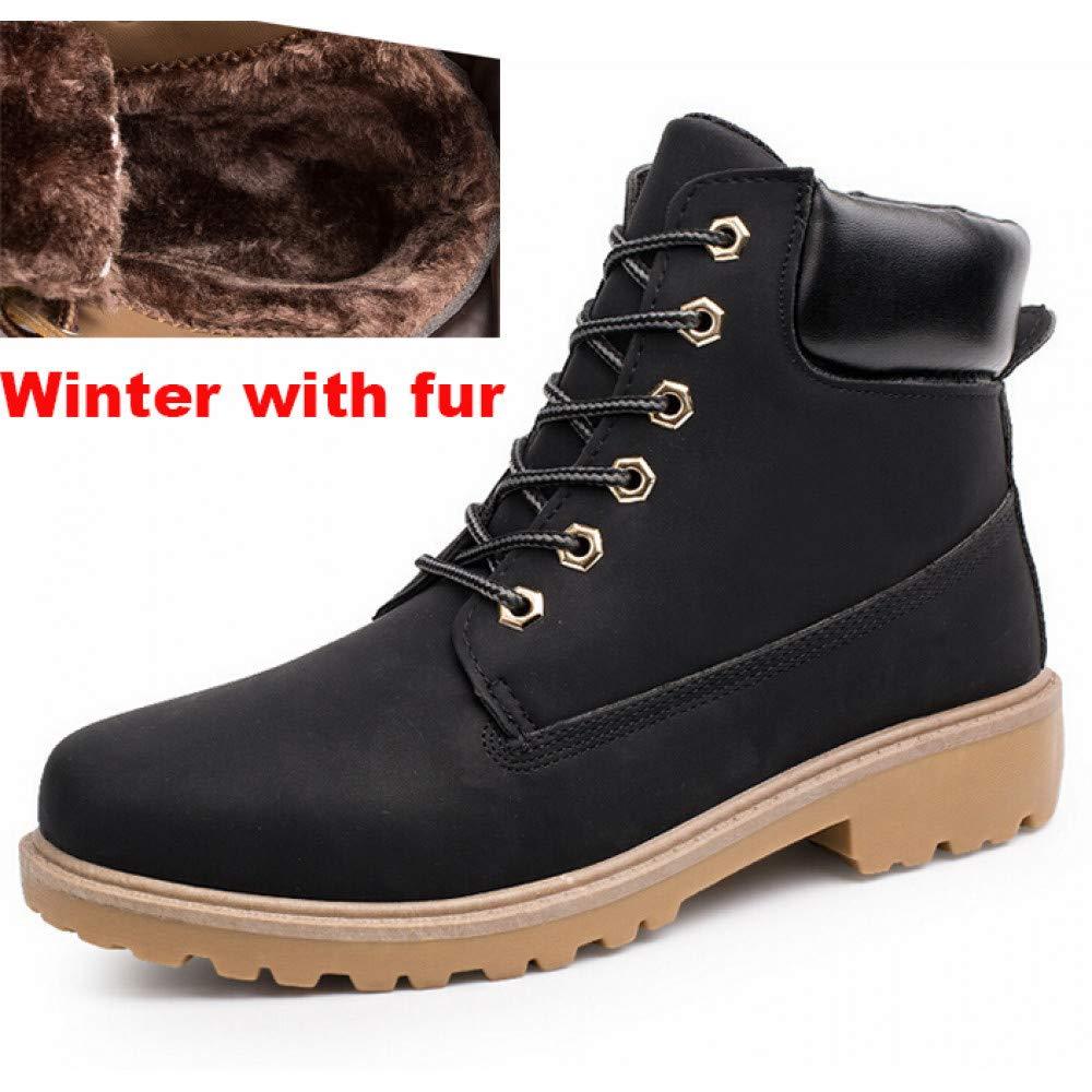 2cba7c5598 FHCGMX Männer Stiefel Mode Martin Stiefel Schneeschuhe Outdoor Casual  Günstige Holz Stiefel Liebhaber Herbst Winter Schuhe