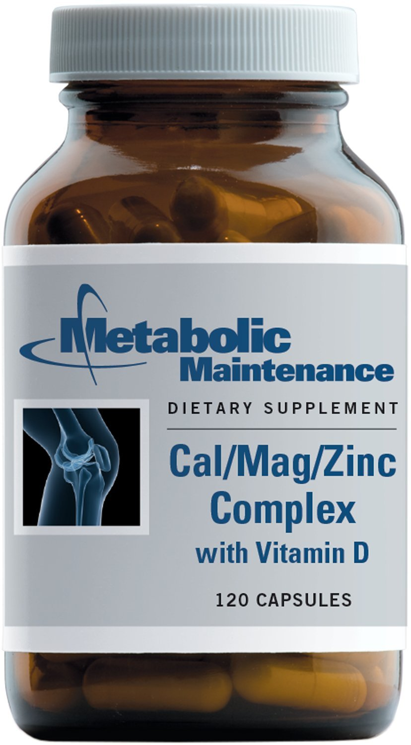 Metabolic Maintenance - Cal/Mag/Zinc Complex with Vitamin D - Higher Absorption for Bone Support, 120 Capsules