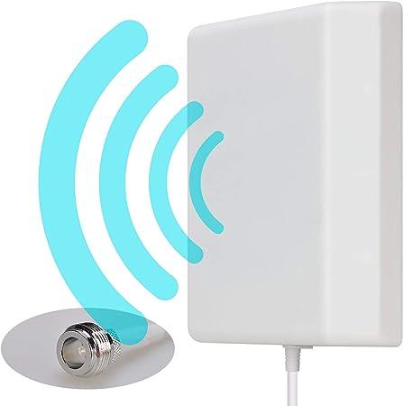 Lysignal Antena De Panel Direccional 698 a 2700 MHz 9dBi para Montaje En Pared Exterior/Interior para Amplificador De Señal Móvil
