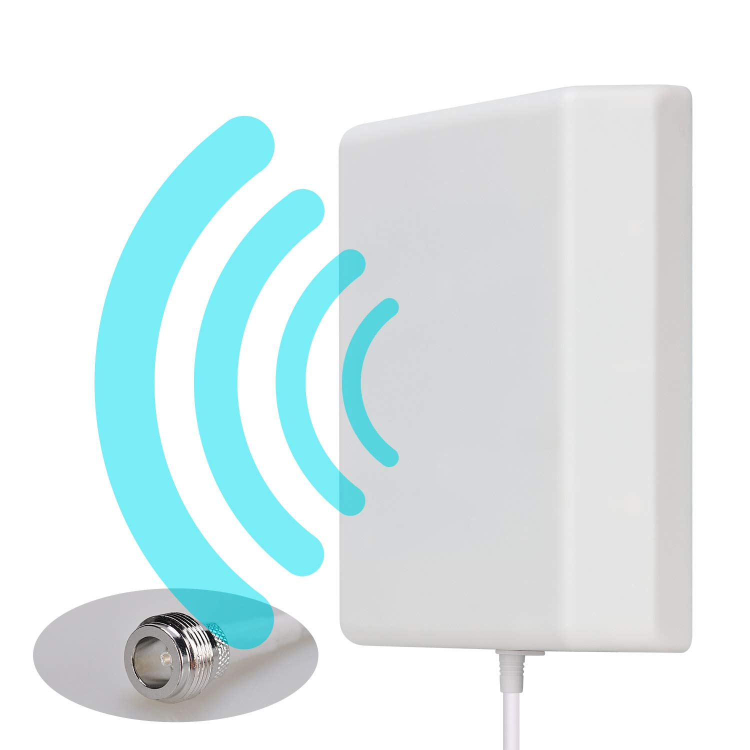 Lysignal Outdoor/Indoor Wall Mount Directional Panel Antenna 698 to 2700MHz 9dBi for Mobile Signal Booster by Lysignal