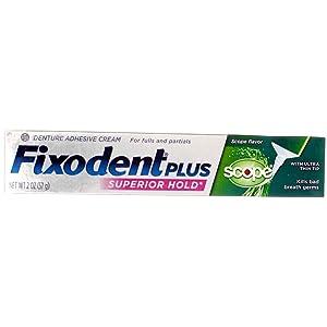 Fixodent Control Denture Adhesive Cream Plus Scope Flavor 2 oz (Pack of 10)