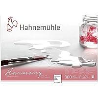 Bloco Aquarela Textura Fina Harmony Watercolour com 12 Filas A4 300 G/M2, Branco Natural, Hahnemuehle, 10628040