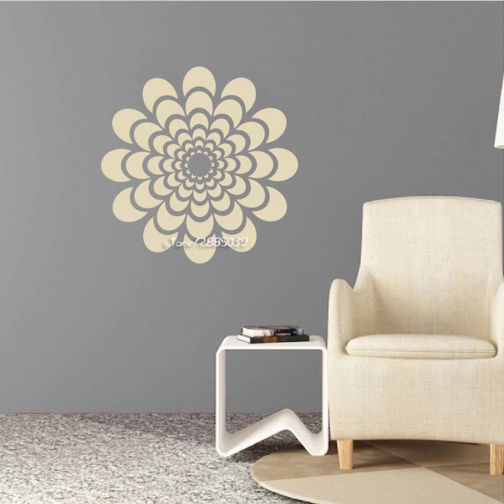 Flor pegatinas de pared vinilo tatuajes de pared sala de estar ...