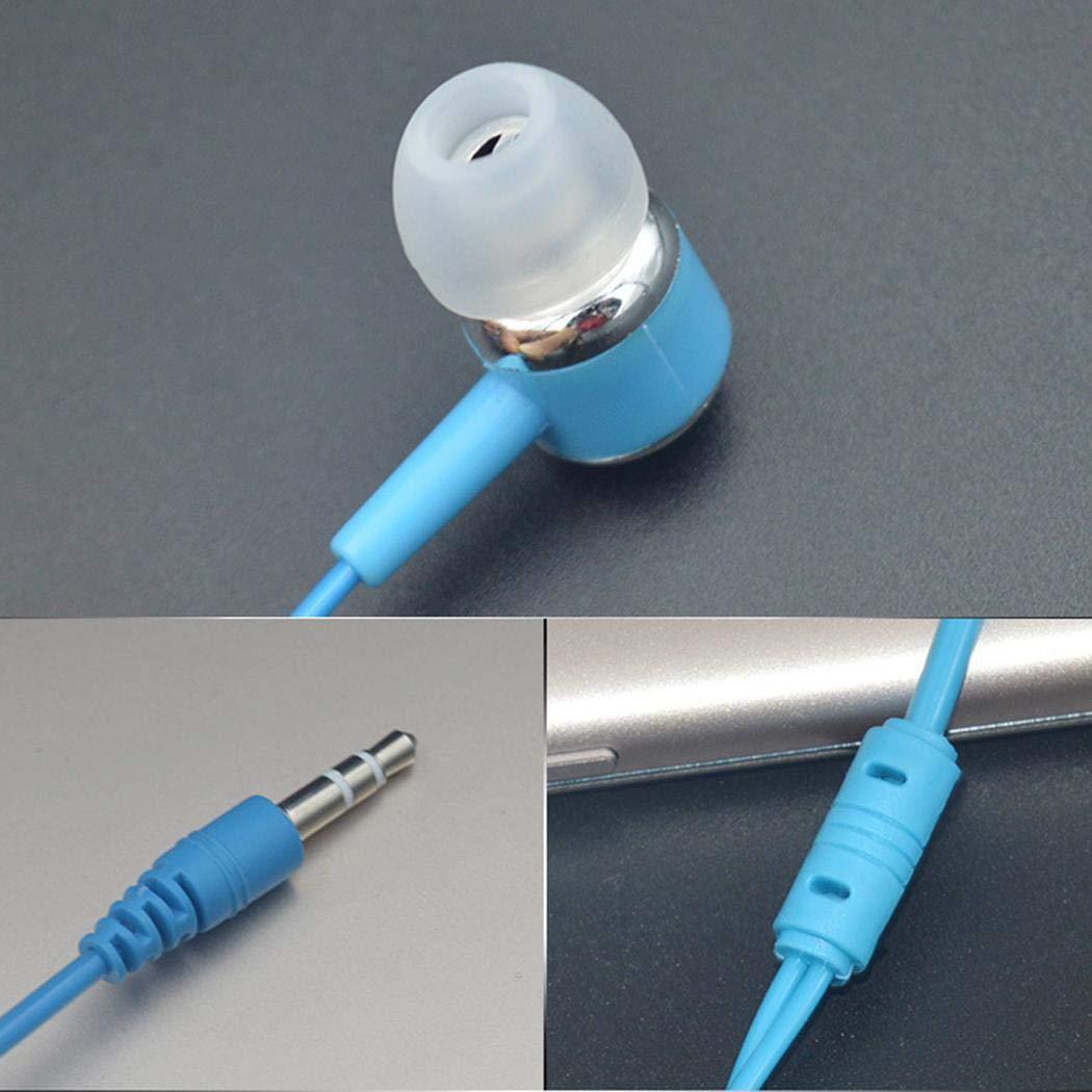 pikins Auriculares con Cable de 3.5 mm con Auriculares magn/éticos con cancelaci/ón de Ruido y Auriculares con micr/ófono Auriculares y Cargadores suplementarios