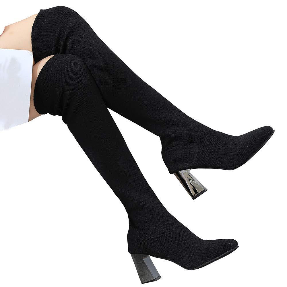 TianWlio Stiefel Damen Behalten Sie Warmen Schuhspitze Zehe
